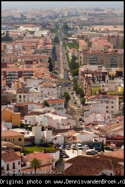 Street in Velez-Malaga seen from La Fortaleza